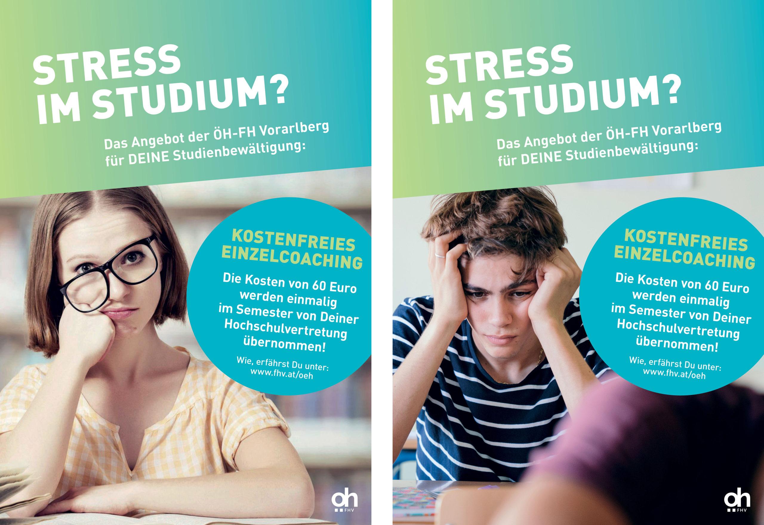 """Übersicht ÖH-Angebot """"Stress im Studium"""""""