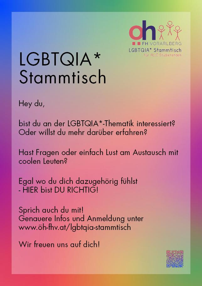 Plakat des LGBTQIA* Stammtisches